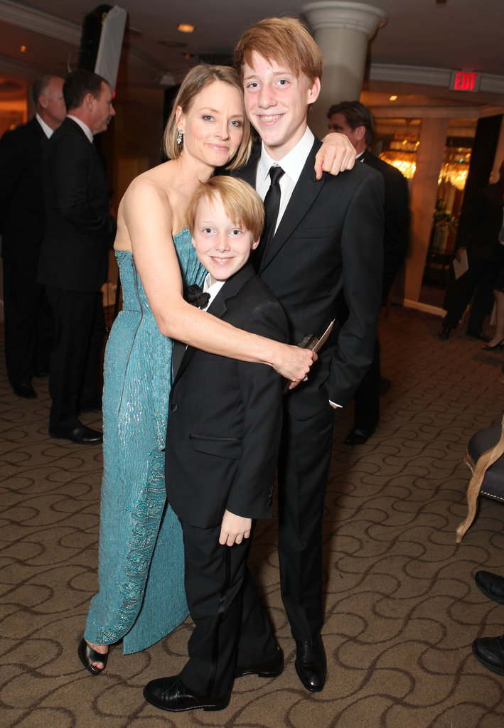 Jodie Foster and her two sons at the Golden Globes.