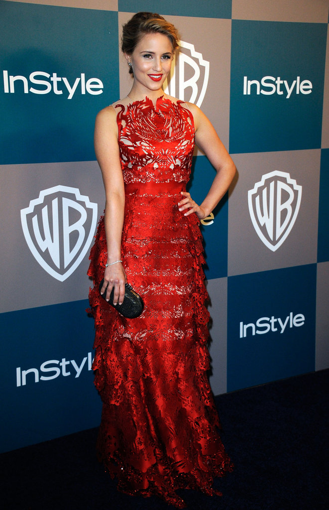 Dianna Agron at InStyle's Golden Globes afterparty.