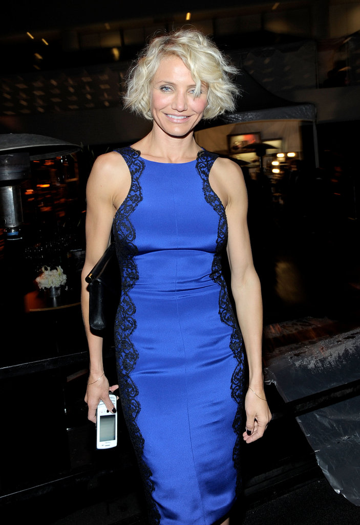 Cameron Diaz partied for the 2012 Golden Globe Awards.
