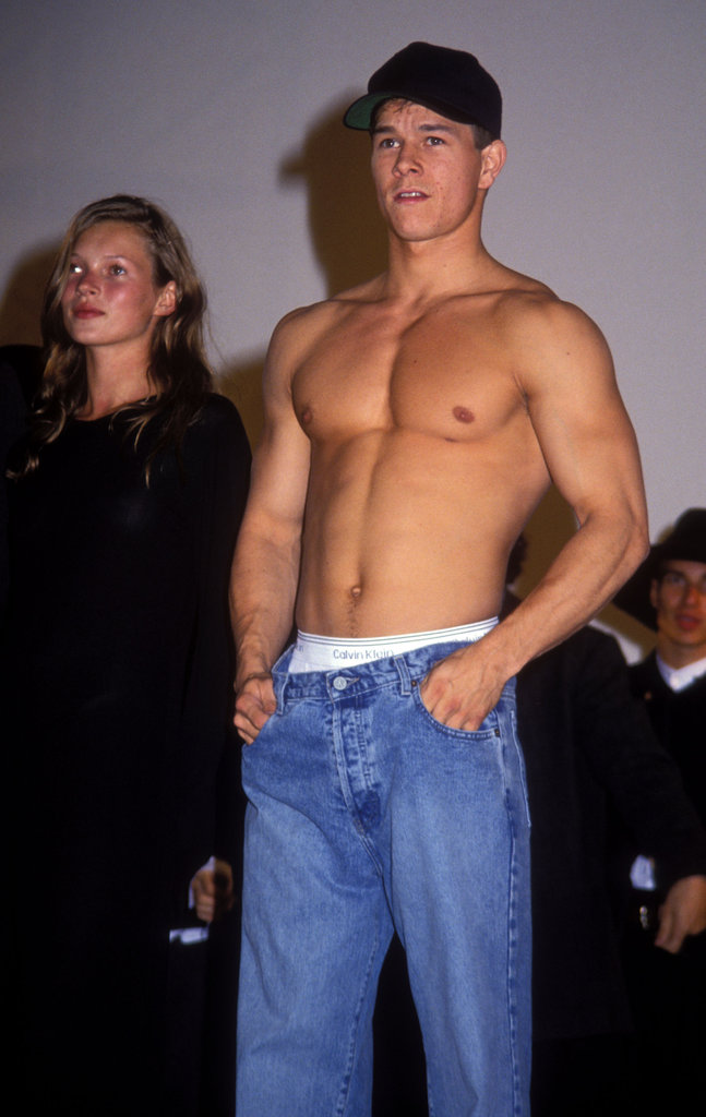 Kate went to Hollywood for work — with a shirtless Mark Wahlberg for Calvin Klein, no less — in September 1995.