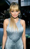 Nicole Richie was decked out in silver.