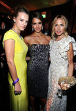 Kelly Patricof, Jessica Alba and Rachel Zoe hung out at the Weinstein Company's Golden Globes after party.