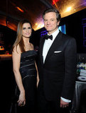 Colin and Livia Firth partied at the NBC post-Golden Globes bash.