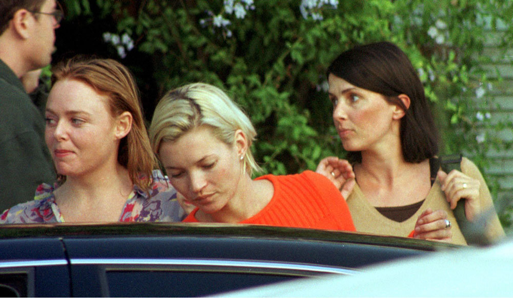 Kate hung out with Stella McCartney and Sadie Frost in LA during February of 2001.