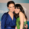 Zooey Deschanel and Emily Deschanel at Golden Globes