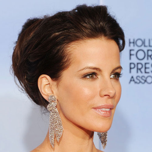 Kate Beckinsale Hair and Makeup at the 2012 Golden Globes