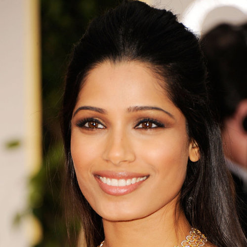 Frieda Pinto's 2012 Golden Globes Hair and Makeup Look