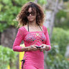 Rihanna Smokes and Wears a Bikini Coverup in Hawaii Pictures