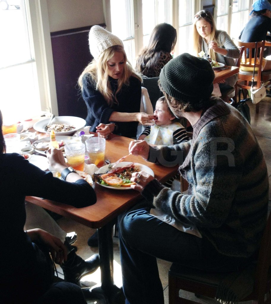 Rachel Zoe and Rodger Berman at lunch with Skyler.