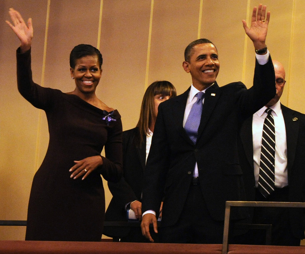The Obamas attend an MLK celebration at the Kennedy Center.