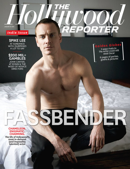 Michael Fassbender posed shirtless for The Hollywood Reporter.