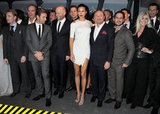 Singer Ronan Keating, actor Herbert Knaup, Ewan McGregor, filmmaker Marc Forster, actor Thomas Heinze, Adriana Lima, CEO of IWC Schaffhausen Georges Kern and actor Moritz Bleibtreu at the IWC Top Gun Gala event in Geneva.