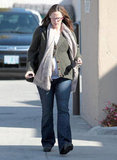 Jennifer Garner walked to her car after a day of preening.