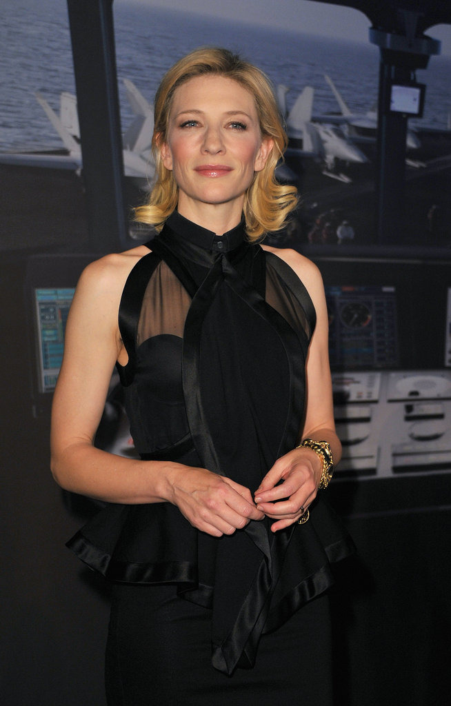 Cate Blanchett at the SIHH High Jewelry Fair.