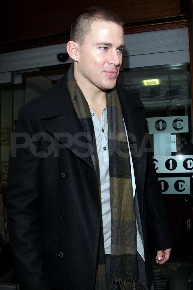 Channing Tatum headed out of the BBC studios.