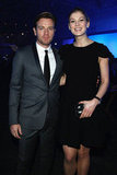 Rosamund Pike and Ewan McGregor bumped into one another at the SIHH High Jewelry Fair.