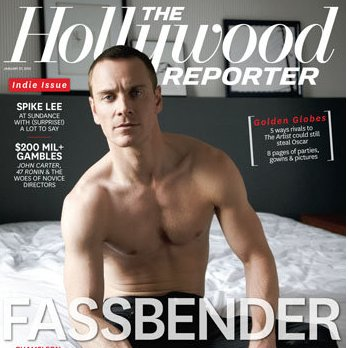 Michael Fassbender Shirtless Hollywood Reporter Cover