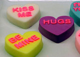 Conversation Heart Soap Favors ($75 For 25)