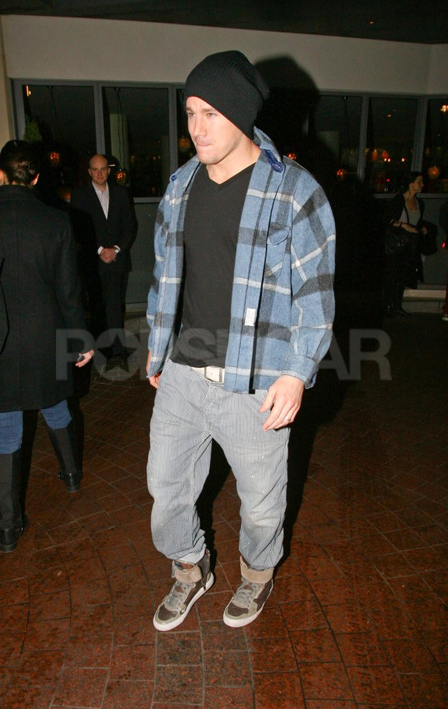 Channing Tatum walked out of the Soho Hotel in London.
