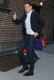 Michael Fassbender waved to fans in NYC.