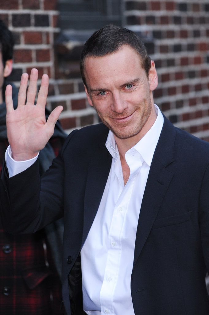 Michael Fassbender looked cute in NYC.