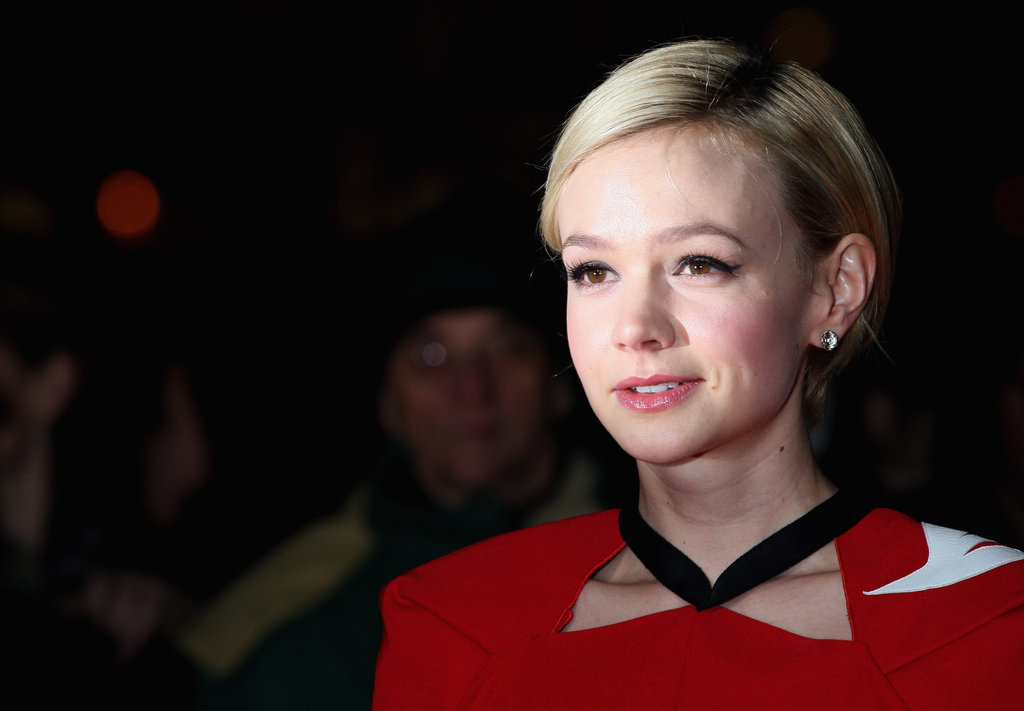Carey Mulligan's pixie cut was perfectly coiffed.