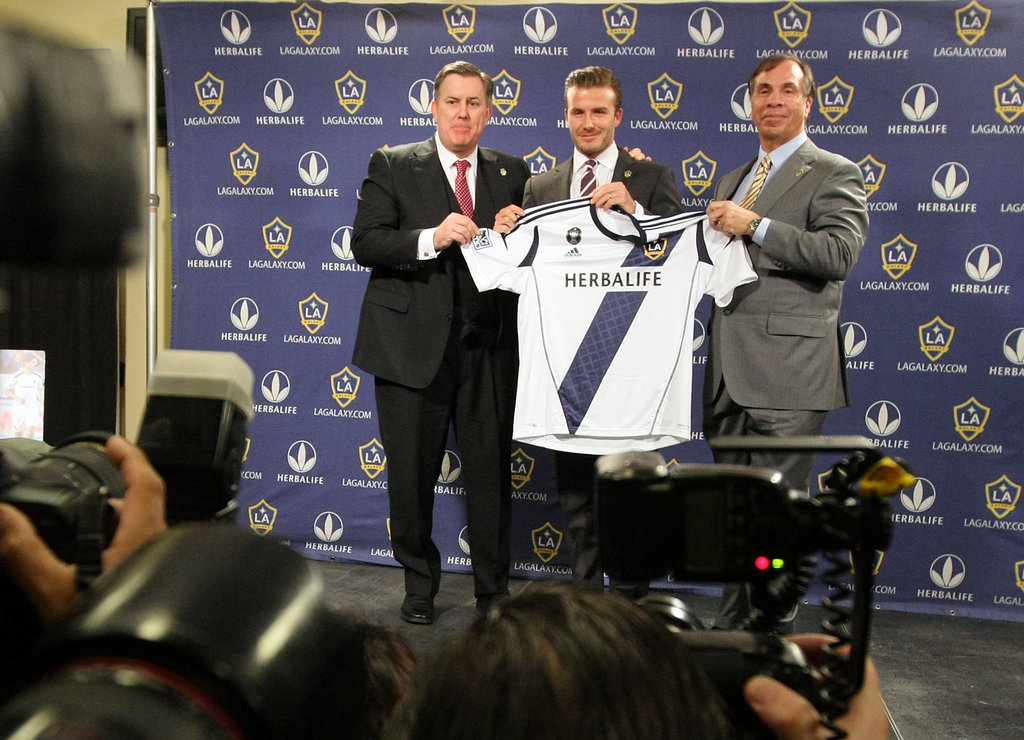 The LA Galaxy held a press conference to announce David's new contract deal.