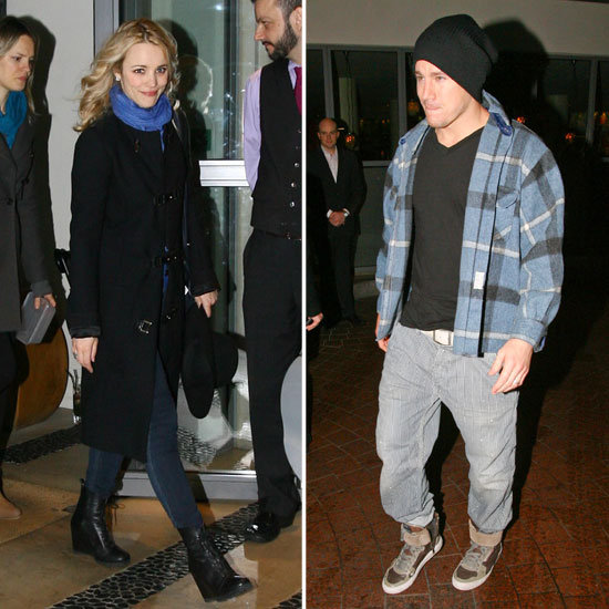 Rachel McAdams and Channing Tatum Bundle Up For a London Night Out