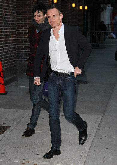 Michael Fassbender was hot in jeans.