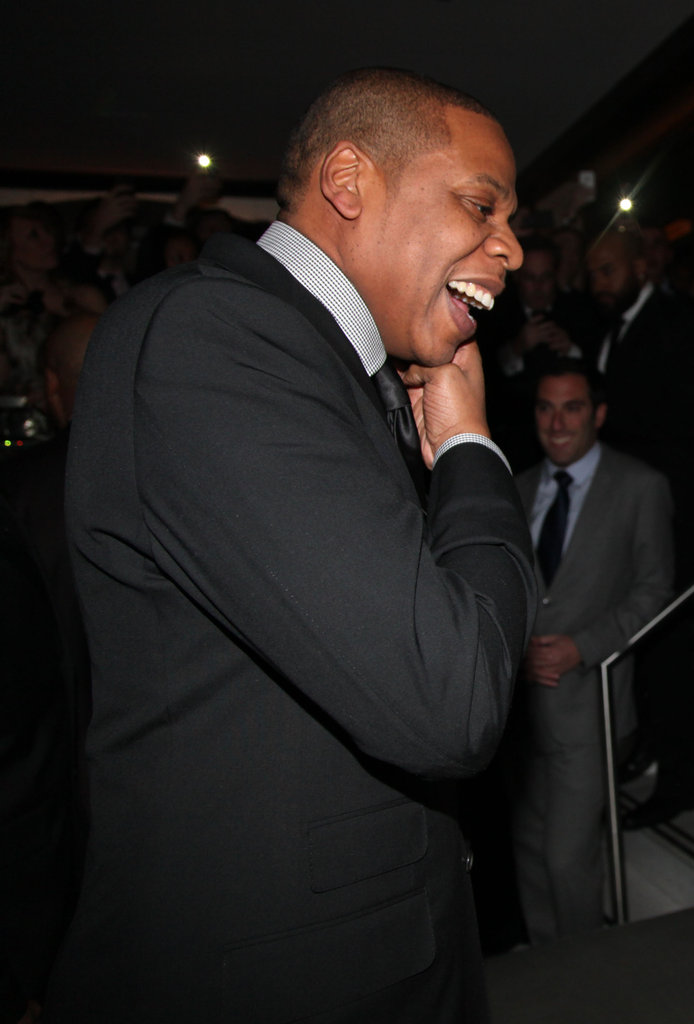 Jay-Z was all smiles in NYC.