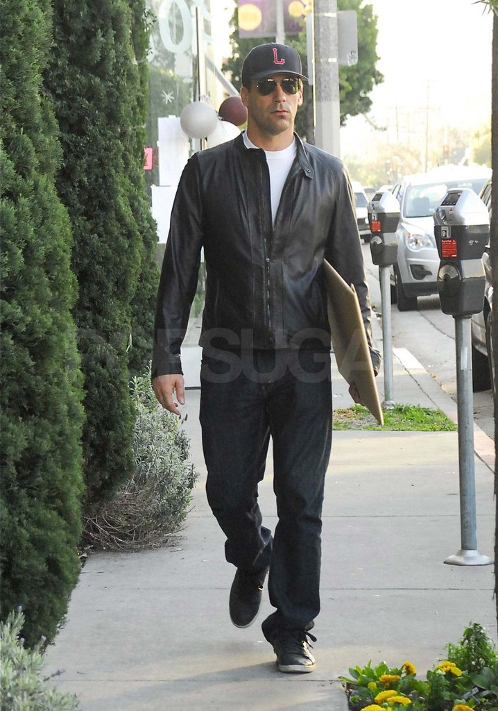 Jon Hamm ran errands around LA.