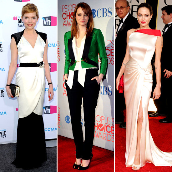 Best Dressed Award Season Red Carpet 2012