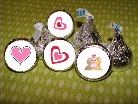 Hershey&#039;s Kiss Stickers ($6 For 108 Stickers)