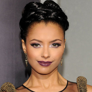 Kat Graham Purple Makeup