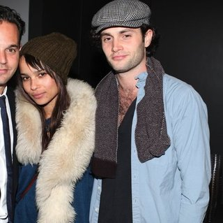 Zoe Kravitz and Penn Badgley Pictures at NYC Party