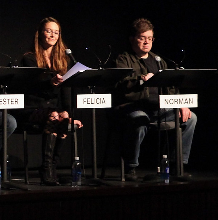 Diane Lane and Patton Oswalt were at a live reading of Shampoo.