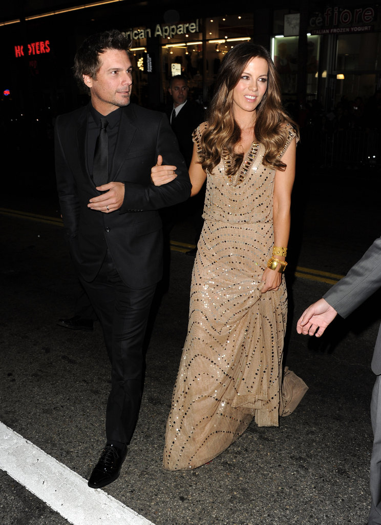 Len Wiseman escorted Kate Beckinsale to the Underworld: Awakening premiere in LA.