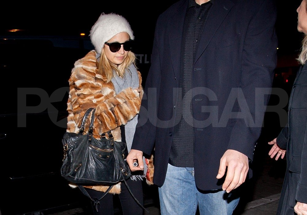 Nicole Richie wore a fur jacket in LA.