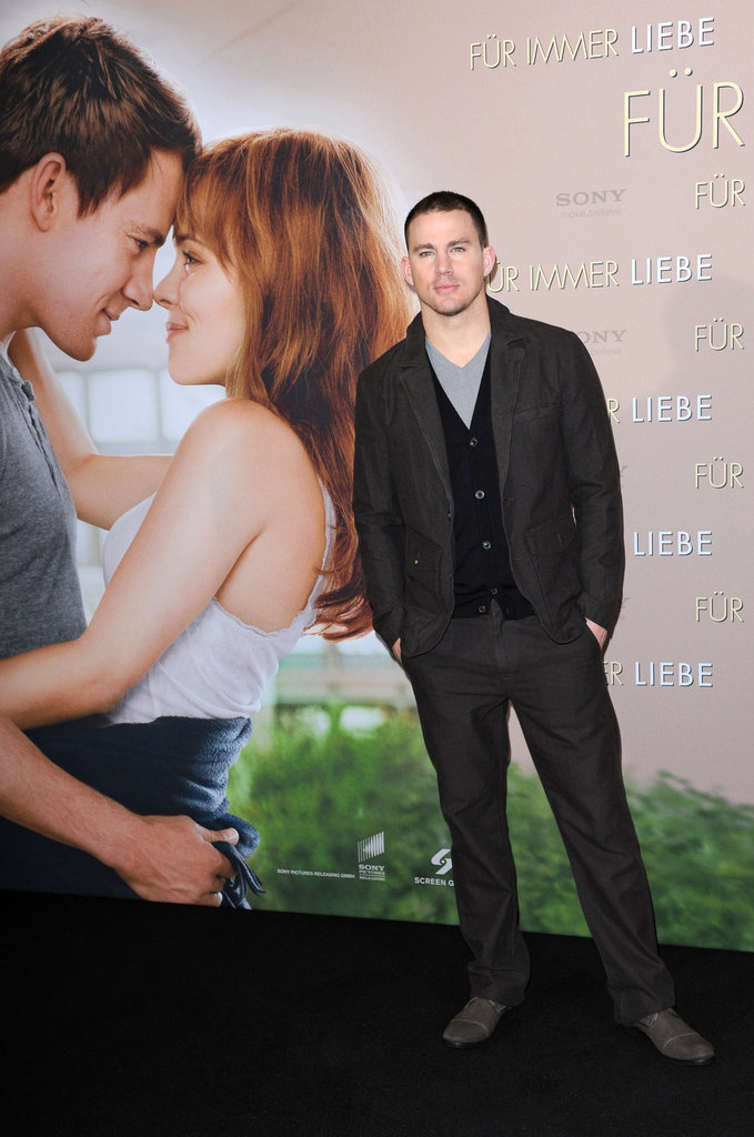 Channing Tatum premiered The Vow in Munich.