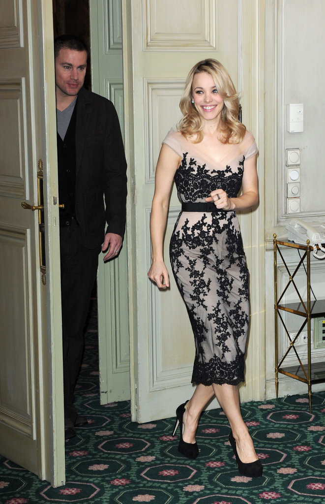 Rachel McAdams walked into a press event for The Vow.