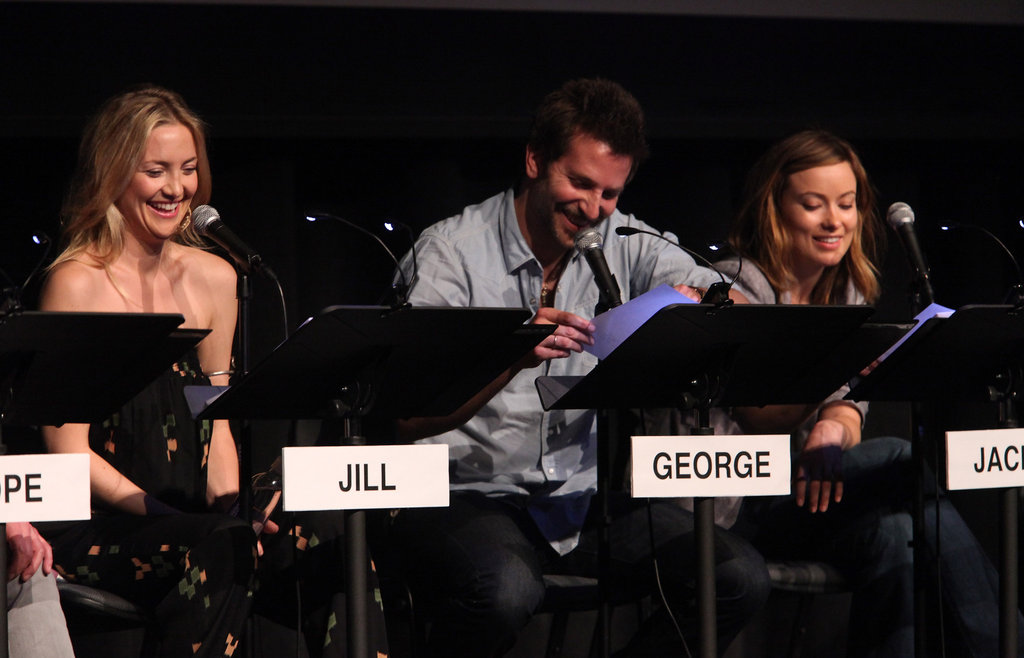 Kate Hudson, Bradley Cooper, and Olivia Wilde attend the Film Independent at LACMA Live Read of Shampoo.