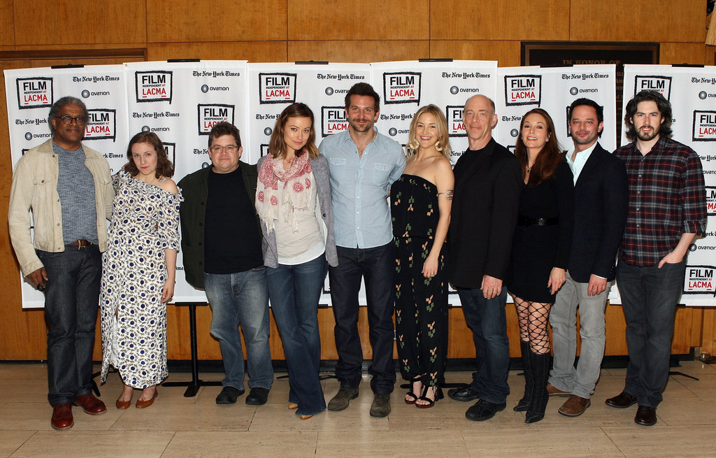 Elvis Mitchell, Lena Dunham, Patton Oswalt, Olivia Wilde, Bradley Cooper, Kate Hudson, J.K. Simmons, Diane Lane, Nick Kroll, and Jason Reitman were together at LACMA.