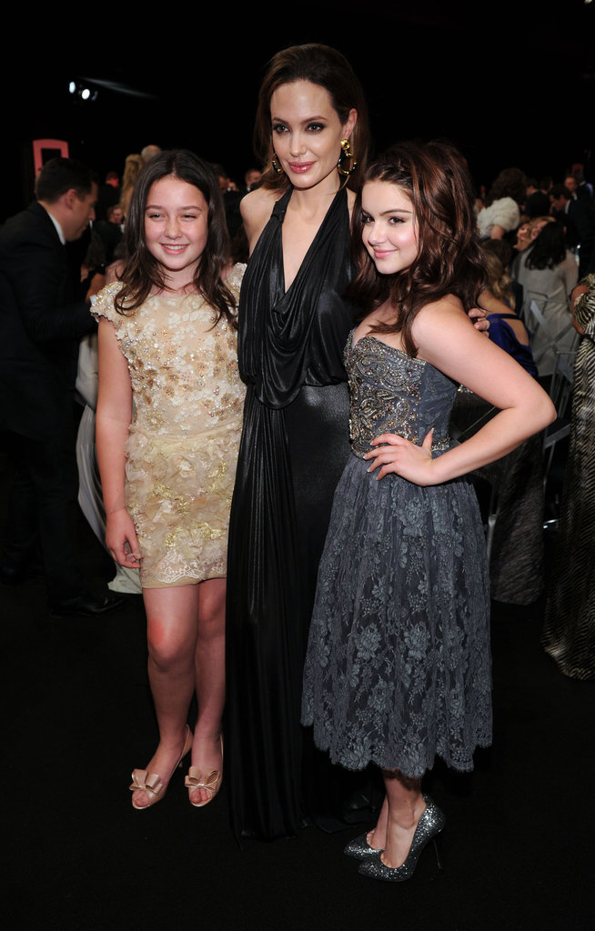 Angelina Jolie posed with Ariel Winter.