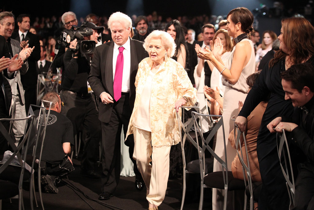 Betty White headed to the stage.