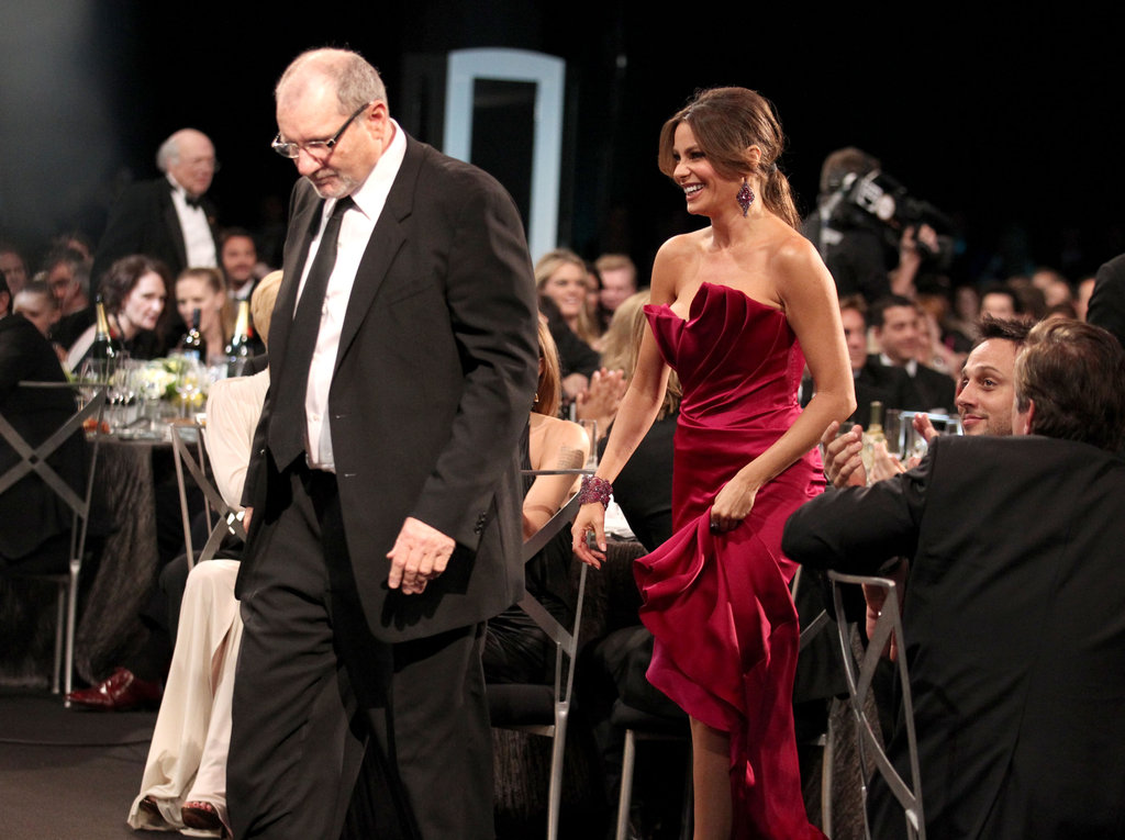 Ed O'Neill and Sofia Vergara got up to accept their award for Modern Family.