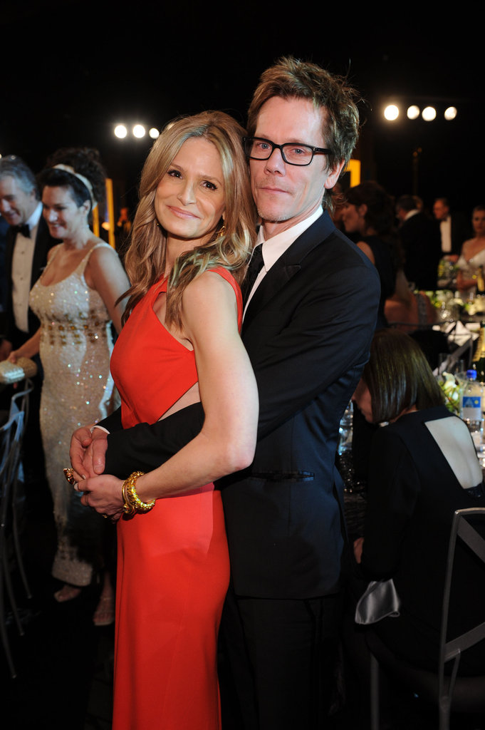 Kevin Bacon and Kyra Sedgwick at the SAGs.