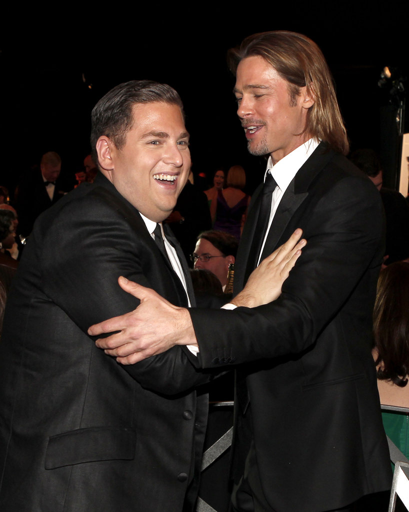 Brad Pitt and Jonah Hill got goofy.