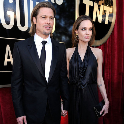 Brad Pitt and Angelina Jolie Pictures at 2012 SAG Awards Red Carpet