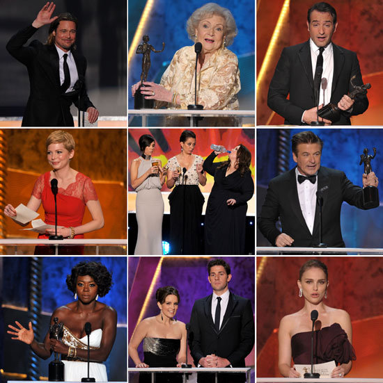 The Help's Win, Love For 30 Rock and Modern Family, a Scorsese Drinking Game — Highlights From the SAG Awards!