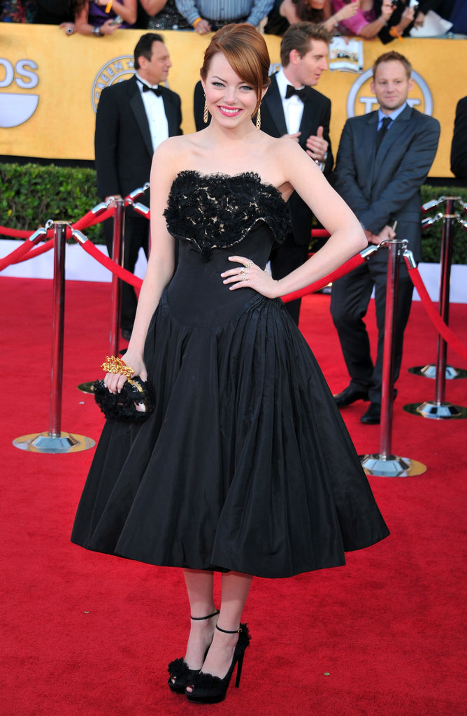 Emma Stone wore McQueen to the SAGs.